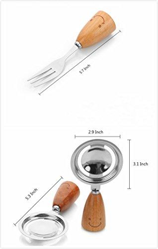 Kitchen Utensil Set - Swivel Peeler, Whisk, Skimmer, Bottle Opener, Serving Spoon, Pizza Cutter, Slotted Turner, Grater, Egg Separator, Toothpick Holder, Spoon, Fork (12 Piece) by MSXMS (Image #5)'