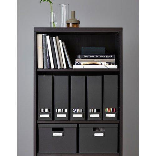 Set of 2 Ikea Tjena Magazine File Organizer Storage Black