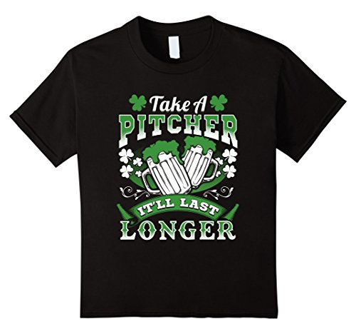 Kids Irish Beer Drinking Shirt Funny St Pat's Day Tee 4 (St Pats Day)