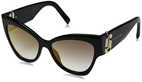 Marc Jacobs Women's Marc109s Cateye Sunglasses, Black/Gray SF Gold SP, 54 - San Sunglasses Francisco In