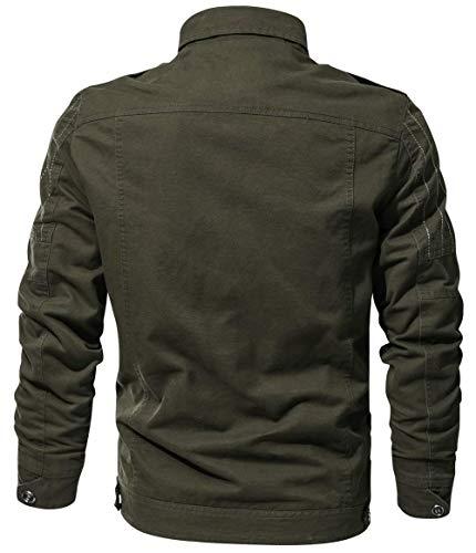 Casual Bomber Da Primavera Giacca Taglie Uomo Armee Hx Cotone Stand Collare Autunno Vintage Abiti Fashion Ricamo Tattico Grün Comode In fqaASBRw