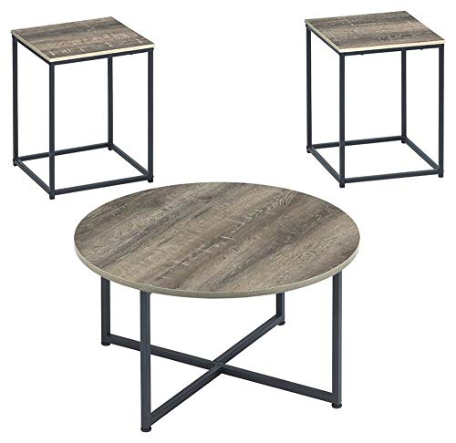 Signature Design by Ashley T103-213 Ashley Furniture Signature Design - Wadeworth Occasional Table Set Set of 3 - Distressed Style, Two ()