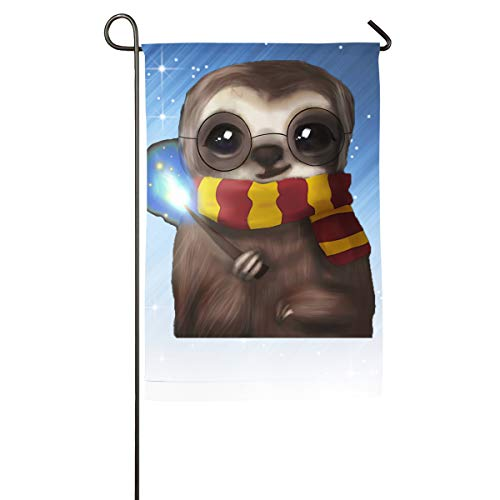 FOOOKL Doctor Sloth Home Family Party Flag 100 Hipster Welcomes The Banner Garden Flags -