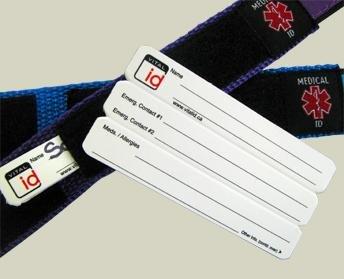 Alta visibilit/à dettagli riflettent Braccialetto per portare la vostra identit/à personale e recapiti di emergenza Conservare numeri di telefono di emergenza Informazioni Allergia e medicinali Sport braccialetto di identit/à Farmaci