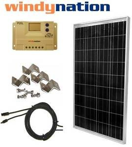 Best Cheap Deal for 100 W Watt 100W PV Solar Panel Kit 12V w/ LCD Controller RV, Boat, Off Grid from Genric - Free 2 Day Shipping Available