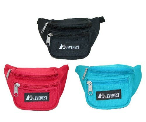 Everest Signature Waist Pack - Junior, Black, One Size 2 Our waist pack line has always been one of the original leaders in waist pack styles, and we are continuing that tradition with our junior waist pack line. The pack's compact size makes it perfect for kids and youths.