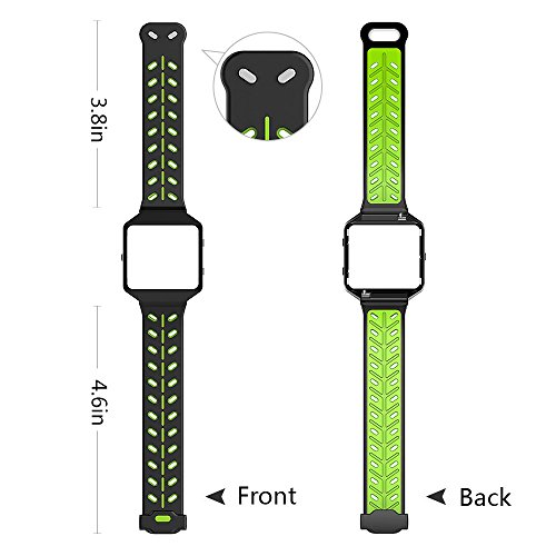 VODKE Silicone Ventilate Replacement Watch Band/Strap/Bracelet/Wristband Accessory With Frame And Quick Release Pin For Fitbit Blaze Smart Fitness Watch Men Women