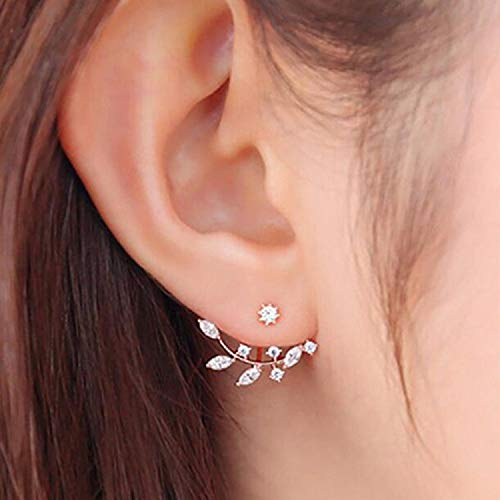 Used, Robert JC Rose Gold Leaf with Cz Crystal Ear Cuff Earrings for sale  Delivered anywhere in USA