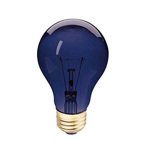 - A19 Incandescent Colored Light Bulb, 75W, E26 Medium Base, 130V, Black Light UV (1 Pack)
