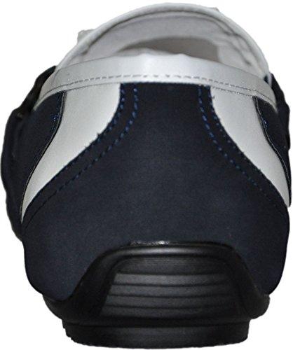 Piel Hombre Mocassins Azul Interior con G38 Oscuro C1Rqvw