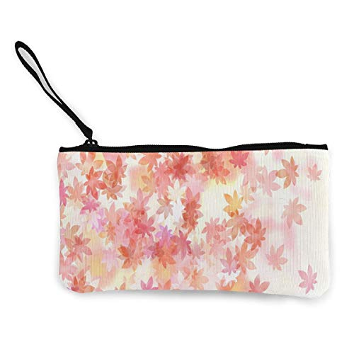 Coin Purse Colors_and_flower_pattern_in_japanese_style Mens Zipper Canvas Wallets TravelInspiring Case