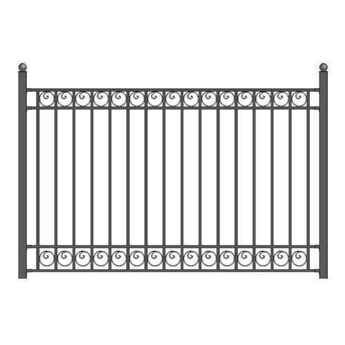 IY Iron Wrought Steel Fence 5.5 X 5 Feet Ornamental Fence (Style Fence)