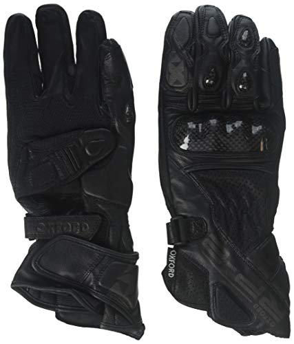 Oxford Unisex-Adult RP-2 Leather Race Gloves Stealth Black X-Large ()