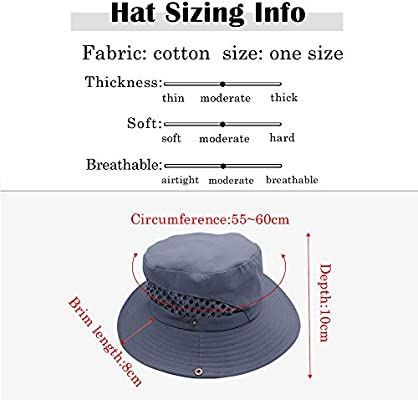 Grey Miriqi Wide Brim Unisex Sun Hat,UPF 50 UV Protection Outdoor Waterproof Foldable Fishing Hat with Adjustable Chin Strap and Breathable Mesh Vent