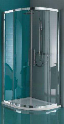 Mampara de ducha Europa 1/4 de redondo japonés a cuatro paneles: Amazon.es: Bricolaje y herramientas
