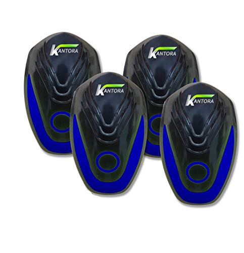 Kantora Ultrasonic Pest Repellent - 2018 Best Model Pest Repeller Plug to Control Rats, Insects, Mice, Spiders, Fleas, Roaches, Bed Bugs, Mosquitoes - Baby, Pet Safe & Non Toxic (Blue 4 Pack) Photo #2
