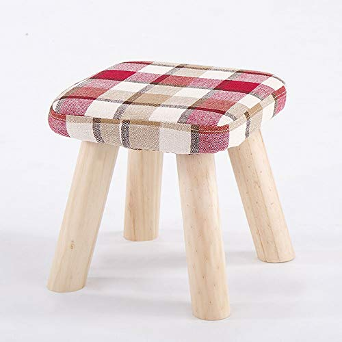 Price comparison product image Paddia Fashion Small Bench Creative Stool Simple Stool Change Shoes Solid Wood Stool Home Dining Table Stool Home Solid Wood Stool Fashion Creative Sofa Change Shoes Bench Fabric Living Room Small Ben