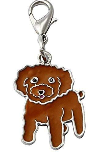 OHA de PET Caniche - Piedra Doodle Charm llavero Perros ...