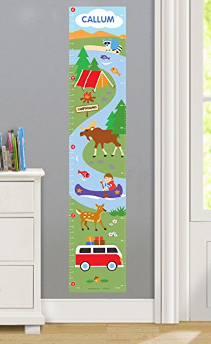 Camping Trip Personalized Wall Decal Growth Chart made our list of personalized camping gifts for RV camp and tent campers