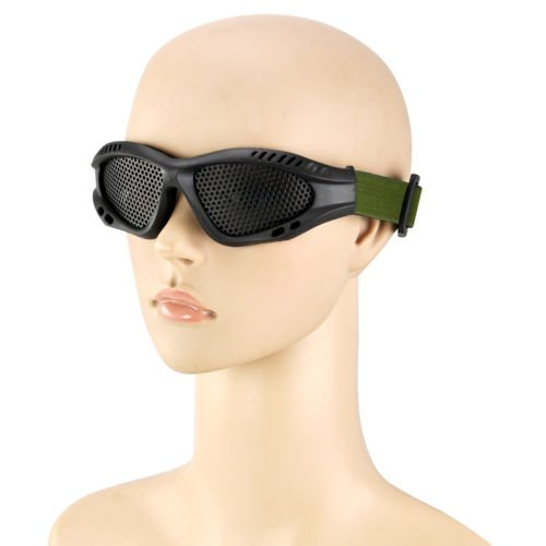 Aokland Tactical Airsoft Goggles Eye Protection Goggles No Fog Metal Mesh Glasses for Shooting Skirmish, Skiing, Riding, Outdoor Activity