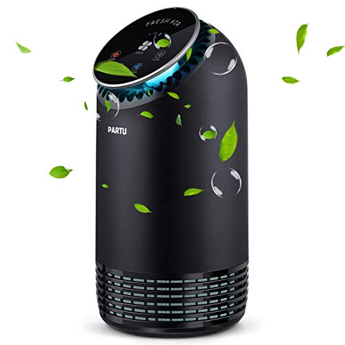 - PARTU Hepa Air Purifier - Smoke Air Purifiers for Home with Fragrance Sponge - 100% Ozone Free, Lock Button, Removing 99.97% Allergies, Dust, Pollen, Pet Dander, Mold (Available for California)