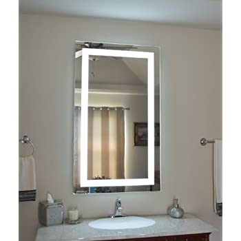 Amazon Com Wall Mounted Lighted Vanity Mirror Led