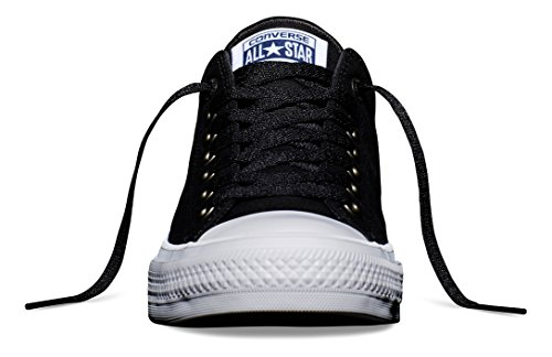 Converse Unisex Chuck Taylor All Star II Ox Black/White/Navy Men's 9.5