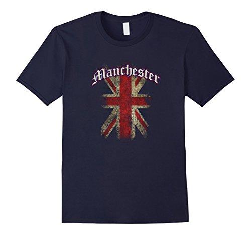Men's Manchester, UK | United Kingdom Union Jack English T-shirt XL Navy (United Kingdom Shirt compare prices)