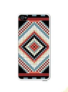 Aztec Mayan Native Logo Pattern Apple Iphone 5 Quality TPU Soft Rubber Case for Iphone 5/5s - AT&T Sprint Verizon - White Case