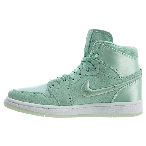 Jordan Nike Women's Air 1 Retro High SOH Mint Foam/White Metallic Gold Casual Shoe 8.5 Women US by Jordan