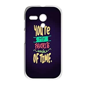 Motorola G Cell Phone Case White Favorite Waste Of Time SLI_526504
