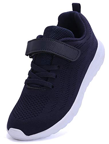 adituo Toddler Kid's Lightweight Sneakers Cute Casual Running Shoes for Boys Girls Blue37]()