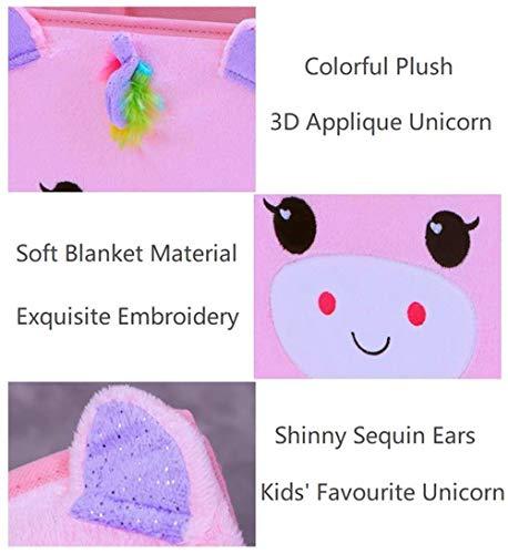41%2BPzynfGBL - (2 Pack) Furianne Foldable Toy Storage Cube Cloth Basket Bins Pink Sequin Fabric Unicorn Animal Cartoon Organizer For Nursery, Playroom, Closet, Shelf, Home
