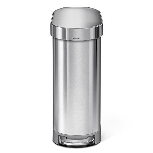 simplehuman Slim Step Can Brushed Stainless Steel, 45 Liter/12 Gallon, 45 L/10.5 Gal