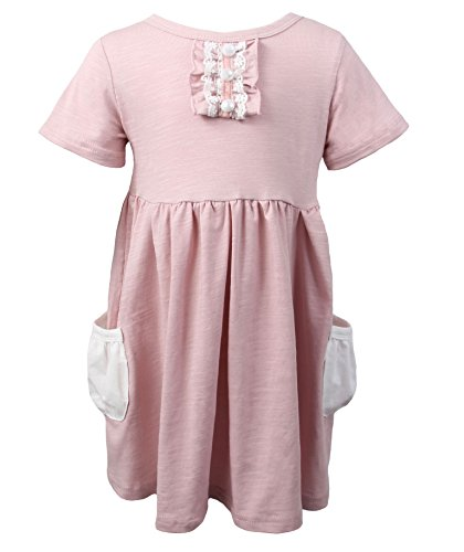 Dusty Rose Pearl (7 Sisters Pink Dusty Rose Lap Dress With Pearls and Ruffle Front Sweet & Simple (8/10))