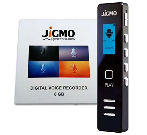 Digital Voice Recorder Dictaphone Sound Recorder for Meetings & Lectures, Voice Activated Pocket Mini mp3 Player, Sound Recorder with Microphone, Headphones, & USB Cable (JiGMO) Confidence Monitor Cart
