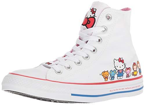 Converse Chuck Taylor All Star Lo Hello Kitty (7 Women / 5 Men B US, White/Pink Prism 9616)