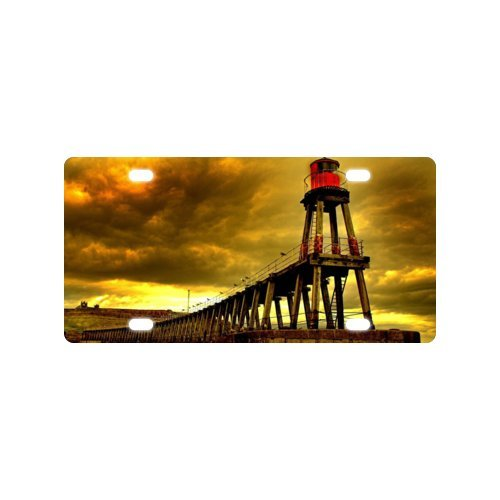 lighthouse License Plate with Personalized and Novelty -12