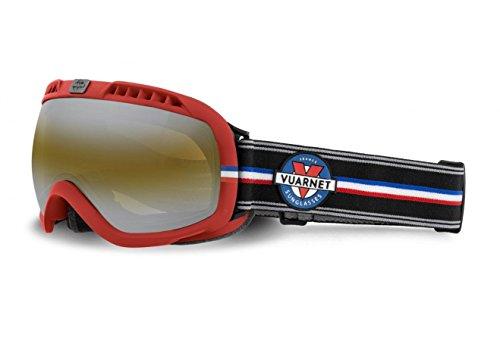 046f7d0ca5dc1 Vuarnet - Masque - Matt Red   Black Strap Frame-Brown + Silver Lenses. BUY  ONLINE · Vuarnet Extreme Unisex VE5001 Athletic Plastic Sunglasses ...
