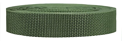 50 Yard Olive - Strapworks Heavyweight Polypropylene Webbing - Heavy Duty Poly Strapping for Outdoor DIY Gear Repair, 1 Inch x 50 Yards - Olive Drab