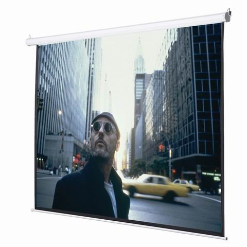 Safstar Electric Motorized Auto Projector Projection Screen With Remote Control 4:3 Square 96