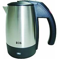 ECG RK 0510, 1000W, acier inoxydable, 0,5 l de capacité, Élément non visible, Extinction automatique, 2 tasses en plastique inclus