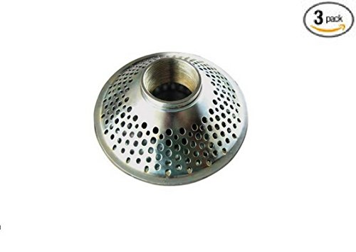 Industrial Grade 5RWN0 Suction Strainer, 2 In. NPSM Inlet 3 Pack