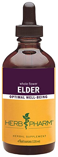 Herb Pharm Certified Organic Elder Liquid Extract – 4 Ounce
