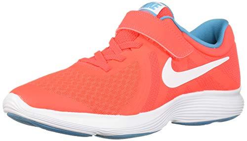 Nike Boys' Revolution 4 (PSV) Running Shoe, bright crimson/white - blue lagoon, 3Y Regular US Little Kid (Boys Preschool Nike Revolution 3 Running Shoes)