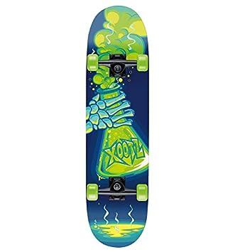 Xootz Kids - Tabla de Skate para Principiantes, Doble Patada, Madera de Arce,