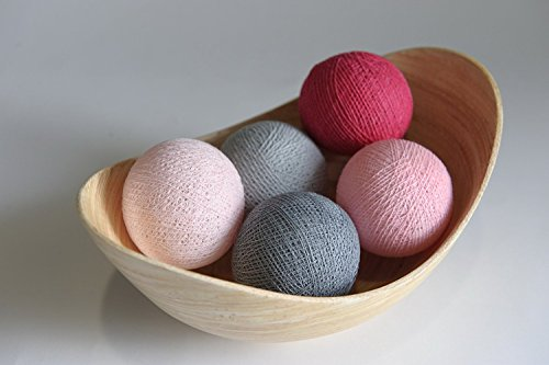 Jakapan's Shop Exotic Elegance Pastel Complimentary Color 20 Cotton Yarn Balls Supplies for String Lights / Home /Decoration /Wedding Party