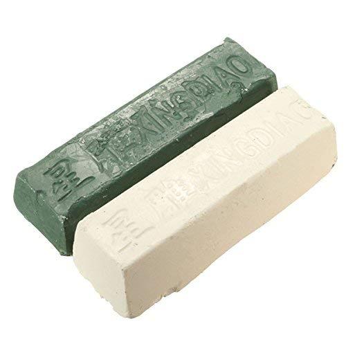 CHUNSHENN 2個レザー革砥研ぎ砥粒研磨化合物の金属真鍮研削貼り付け 研磨用 研磨工具