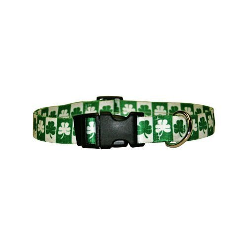 "Shamrock Dog Collar - Size Cat 8"" to 12"" Long - Made In The USA"