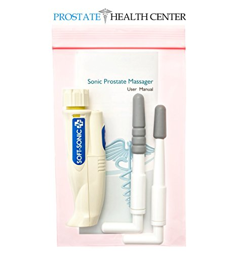 Sonic Prostate Massager by Prostate Health Center | Prostate Wellness Massager | Best Home Use Prostate Massage Device | BONUS: Prostate Massage Manual eBook by Harvard MD - Dr. Bazar